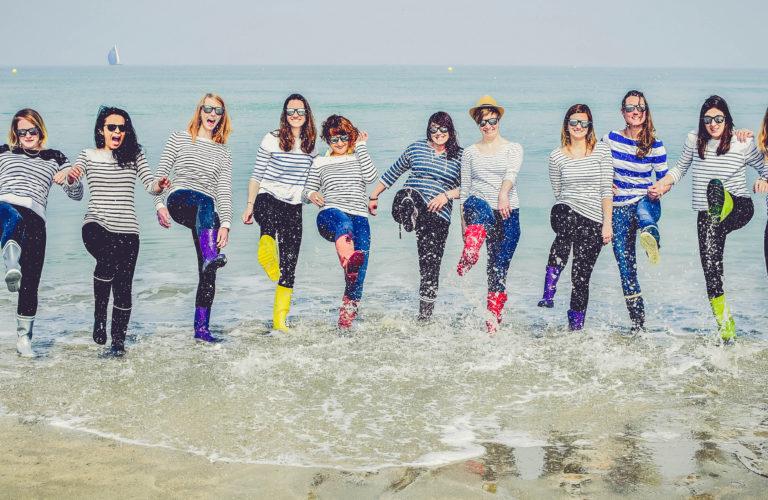 EVJF Deauville les pieds dans l'eau